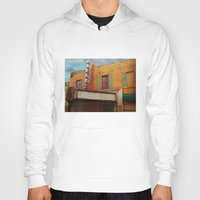 theater Hoodies featuring The Crumbling Martin Theater by Little Bunny Sunshine