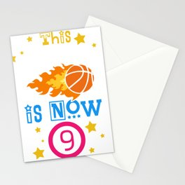 This Baller is now 9 Birthday Stationery Cards