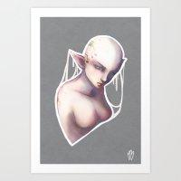 elf Art Prints featuring Elf by Myriam Barret