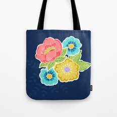 Floral Beauty - Midnight Tote Bag