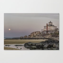 Moon rise at Good Harbor Beach 4-21-16 Canvas Print