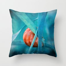 Alone in Blue Throw Pillow