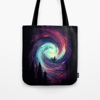 stars Tote Bags featuring Adventure Awaits by nicebleed