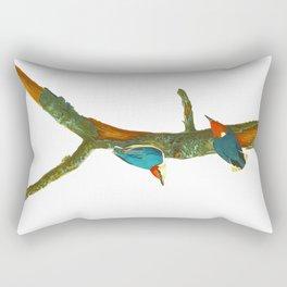 Turquoise Bird Rectangular Pillow