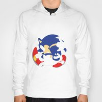 sonic Hoodies featuring Sonic by JHTY