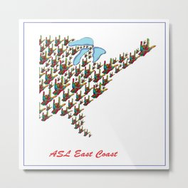 ASL - East Coast Metal Print