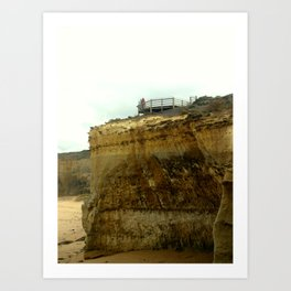 The Limestone Cliffs Art Print