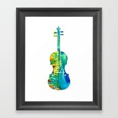 Abstract Violin Art by Sharon Cummings Framed Art Print