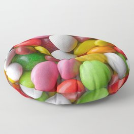 Multicolored round candies Floor Pillow