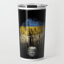 Trump Under The Ukrainian Cloud. When it rains, it pours. Travel Mug