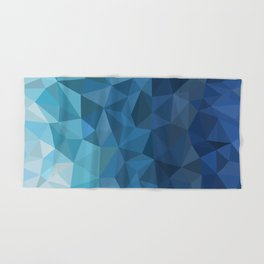 blue geometric Hand & Bath Towel