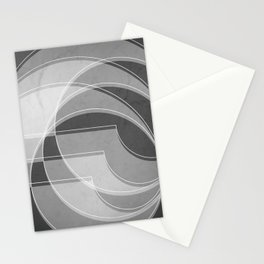 Spacial Orbiting Spiral in Charcoal Gray Stationery Cards