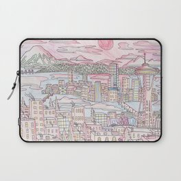 Seattle in Colored Pencil Laptop Sleeve