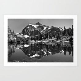 Mount Shuksan Reflected Art Print