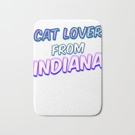 Cat lover from indiana Bath Mat