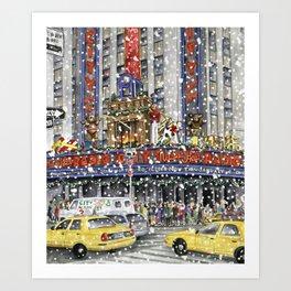 NY at Christmas Art Print