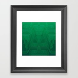 Round and About Emerald Framed Art Print