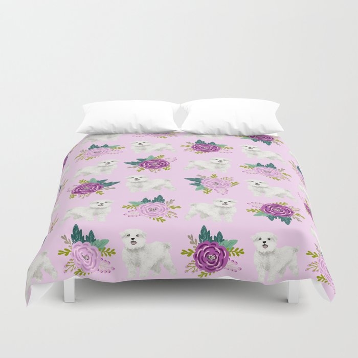 Maltese Dog Breed Fls Pattern Cute Gifts For By Pet Friendly Duvet Cover