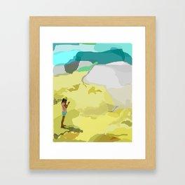 Lyza and Dust Framed Art Print