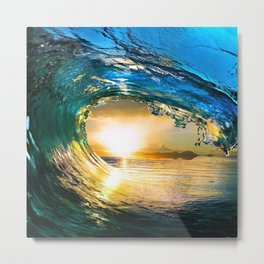 Glowing Wave Metal Print