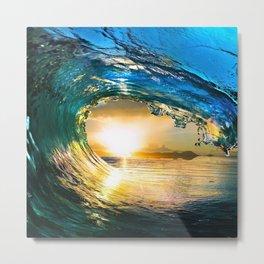 Glowing Wave Metal Print