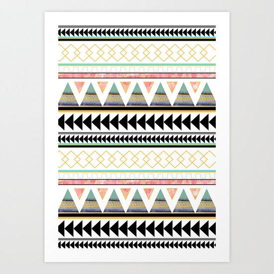 Aztec 3 Art Print