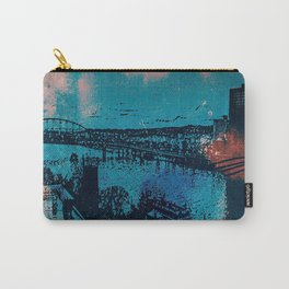 Abstract City Of Steel Carry-All Pouch
