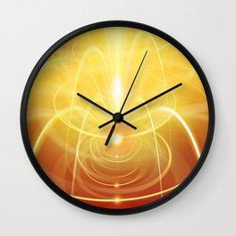 orange fountain abstraction light Wall Clock