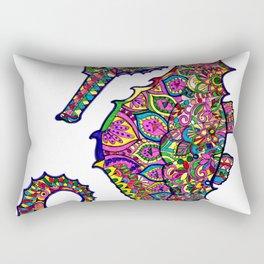 Seahorse colourful mandala Rectangular Pillow