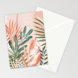 Tropical Leaves 4 Stationery Cards