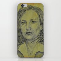 scully iPhone & iPod Skins featuring Scully by Jenn