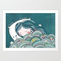 sea inside Art Print