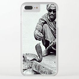 Snake Charmer in Morocco Clear iPhone Case