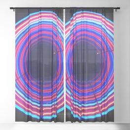Neon Void Sheer Curtain