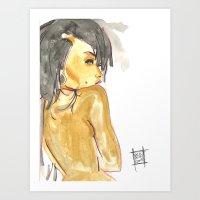 Bare Gold Art Print