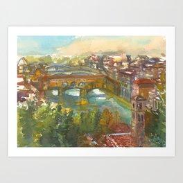 Ponte Vecchio on the Arno River Art Print