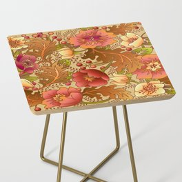 Fall Flowers Side Table