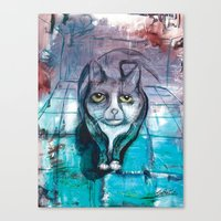 miles davis Canvas Prints featuring Miles by Stephen Batiz