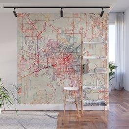 Huntsville map Alabama painting Wall Mural