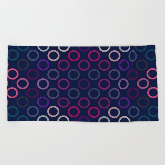 Colorful Circles VIII Beach Towel