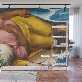 Italian American Masterpiece 'Fisherman's Dream' by Alfred de Giorgio Crimi Wall Mural