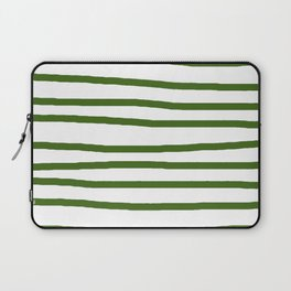 Simply Drawn Stripes in Jungle Green Laptop Sleeve