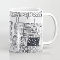 calendar Mugs featuring Bloom Calendar by sinonelineman