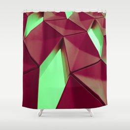 Dark Red & Kryptonite by Brian Vegas Shower Curtain
