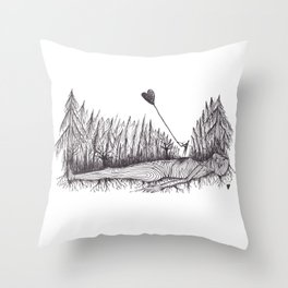 The Heart Is Blown Upon The Breeze Throw Pillow