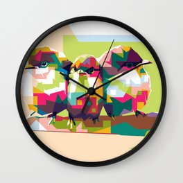 Birdies Chat Wall Clock