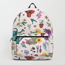 Grow Flowers Gardening Pattern Light Backpack