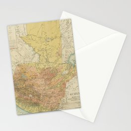 Vintage Map of Guatemala (1902) Stationery Cards