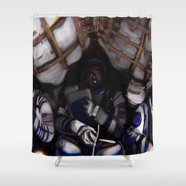 Astronauts from international space station Shower Curtain
