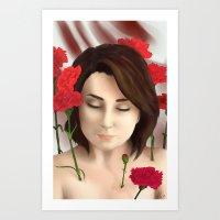 Carnations Art Print